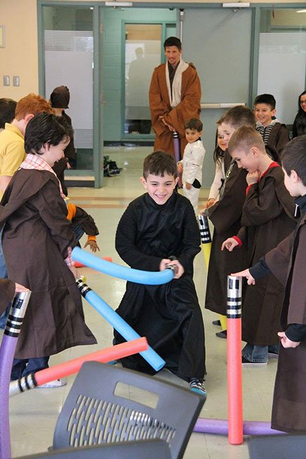 Light saber fight   Star Warrior Party