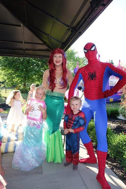 Ariel and Spider-Man Party | Group Party