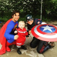 Superman and Captain America   Superhero Group Party