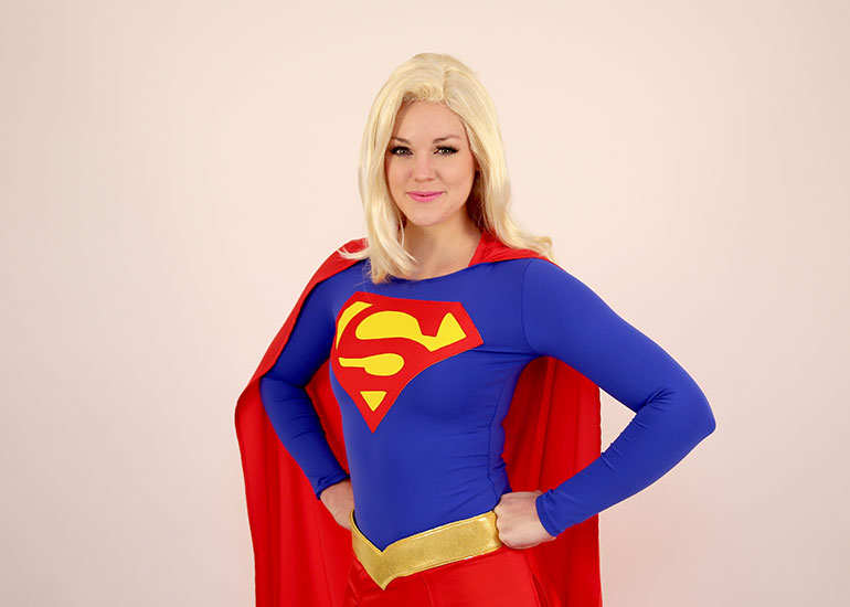 Super Girl Parody Party Character - 1